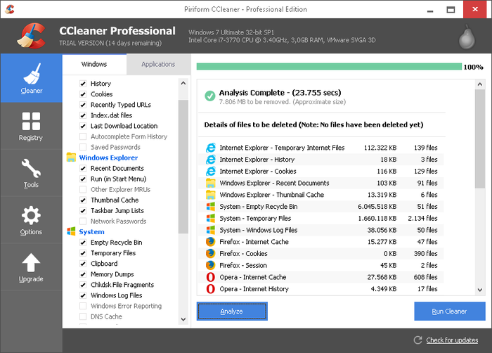 how to run ccleaner on windows 7