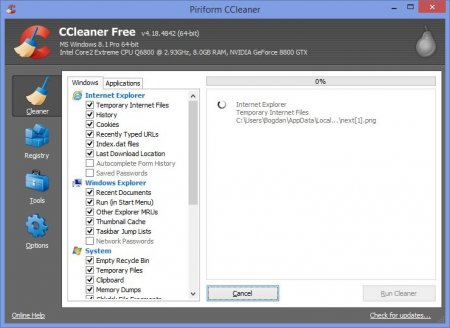 CCleaner for Windows 8.1